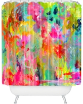 "Stephanie Corfee Hot Mess Shower Curtain Yellow 69"" x 72"" - Deny Designs"