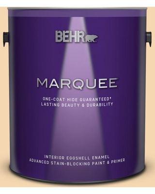 BEHR MARQUEE 1 gal. #330C-3 Clam Chowder Eggshell Enamel Interior Paint and Primer in One