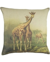 TheWatsonShop Giraffe Cotton Throw Pillow LMAGIR16