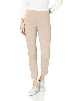 NYDJ Women's Pull-On Skinny Ankle Jeans | Slimming & Flattering Fit, feather, 0