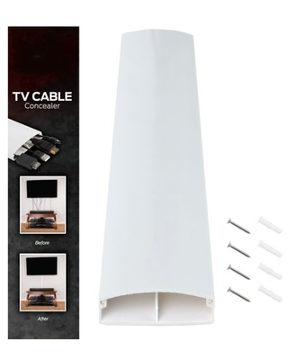 Dual Channel TV Cord Management System- 32 inch Wall Raceway by Edison Supply