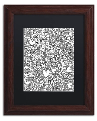 """Trademark Fine Art """"Mixed Coloring Book 39"""" Canvas Art by Kathy G. Ahrens, Black Matte, Wood Frame"""