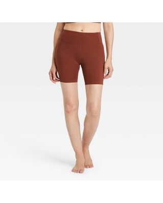 """Women's Contour High-Rise Bike Shorts 7"""" - All in Motion Russet XXL"""