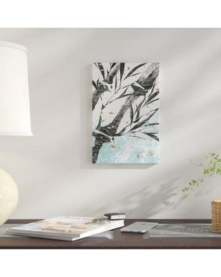 """East Urban Home 'Kyoto's Garden I' Graphic Art Print on Wrapped Canvas ESUH7624 Size: 18"""" H x 12"""" W x 1.5"""" D"""