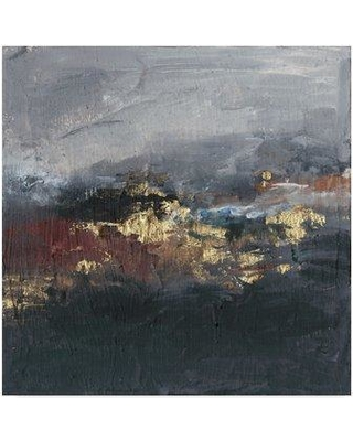 """Mercer41 'Mountains in the Mist II' Acrylic Painting Print on Wrapped Canvas W000955551 Size: 14"""" H x 14"""" W x 2"""" D"""