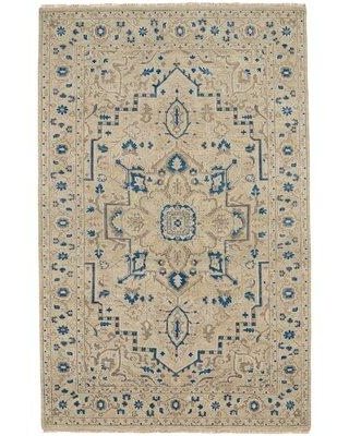 Discover Deals On Highland Dunes Barrett Oriental Hand Knotted Wool Beige Area Rug Wool In Ivory Cream Size Rectangle 3 6 X 5 6 Wayfair