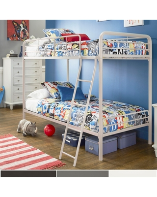 Jana Twin over Twin Bunk Bed by iNSPIRE Q Junior (White)