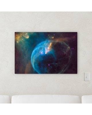 """Ebern Designs ''Space Related' Graphic Art Print on Canvas EBRD7434 Size: 16"""" H x 32"""" W x 2"""" D"""
