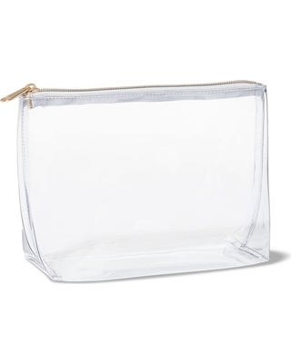 47cfc47a7005 Spectacular Deals on Sonia Kashuk Square Clutch Makeup Bag - Clear
