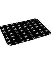 """Kelly Haines X Pattern Bath Rugs and Mats Black 24"""" x 36"""" - Deny Designs"""