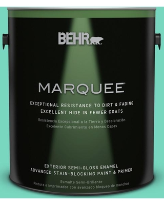 BEHR MARQUEE 1 gal. #480A-3 Mint Majesty Semi-Gloss Enamel Exterior Paint and Primer in One