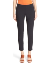 Women's Lafayette 148 New York 'Stanton' Slim Leg Ankle Pants, Size 0 - Black