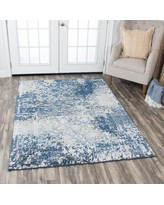 Shop Thora Floral Wool Light Blue Gray Area Rug One Allium Way Rug Size Runner 2 6 X 8