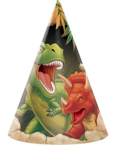 8ct Dino Party Hats, Party Hat
