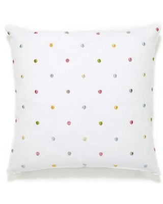 Aura Dots 20-Inch Square Throw Pillow in Pink