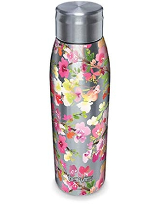 Tervis Yao Cheng - Sakura Floral Insulated Tumbler, 17oz Water Bottle, Stainless Steel