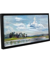 """Latitude Run Tree Reflections Framed Painting LTRN7336 Size: 18"""" H x 36"""" W x 2"""" D"""