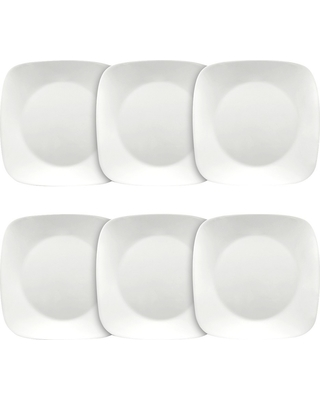 Corelle Square Lunch Plates White - Set of 6  sc 1 st  Better Homes and Gardens & Slash Prices on Corelle Square Lunch Plates White - Set of 6