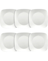 Corelle Square Lunch Plates White - Set of 6