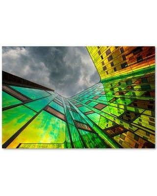 """Trademark Fine Art 'The Rainbow' Graphic Art Print on Wrapped Canvas 1X03258-C Size: 30"""" H x 47"""" W"""