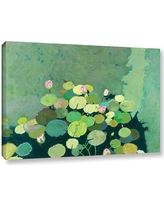 """Latitude Run Betty's Serenity Pond Painting Print on Wrapped Canvas LTRN9944 Size: 8"""" H x 12"""" W x 2"""" D"""