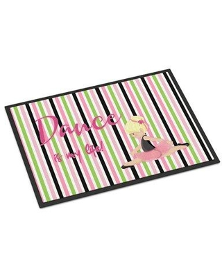 """East Urban Home East Urban Home Non-Slip Outdoor Door Mat EUME8479 Color: Blonde/Pink/Black Mat Size: Rectangle 24"""" W x 36"""" L"""