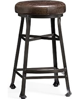 Decker Leather Barstool, Counter Height, Chocolate