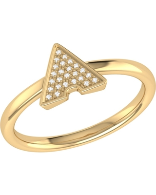 LMJ - Skyscraper Ring In 14 Kt Yellow Gold Vermeil On Sterling Silver