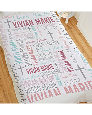 Christening Day For Her Personalized 50x60 Fleece Blanket