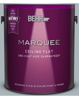 BEHR MARQUEE 1 gal. #N490-3 Shaved Ice One-Coat Hide Ceiling Flat Interior Paint and Primer in One