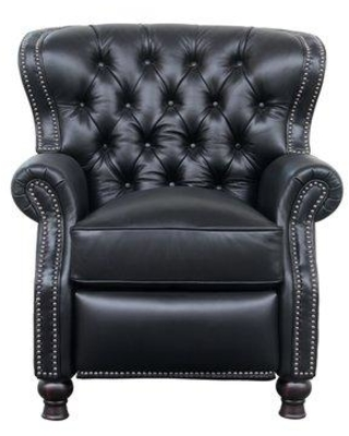 Darby Home Co Keleigh Leather Manual Recliner DRBH1516 Upholstery Color: Onyx