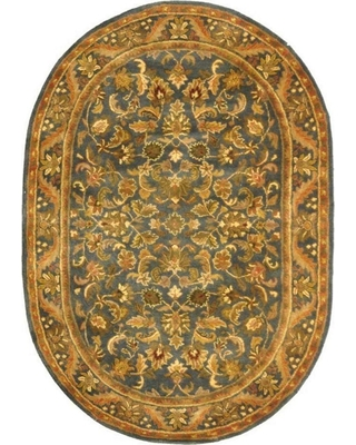 Safavieh Antiquity Blue/Gold 8 ft. x 10 ft. Oval Area Rug