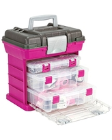 Large Creative Options 3870-82 Pro-Latch Connectable Craft Carrier with 5 to 22 Adjustable Compartments
