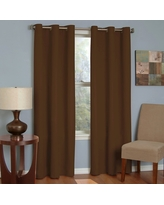 "Eclipse Thermaback Microfiber Grommet Blackout Window Curtain Panel - Chocolate (Brown) (42""x95"")"