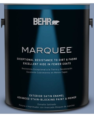 BEHR MARQUEE 1 gal. #600F-5 Blueberry Buckle Satin Enamel Exterior Paint and Primer in One