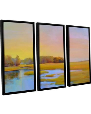 Discover Deals On Latitude Run Summer Marsh 2 3 Piece Framed Painting Print On Canvas Set Canvas Fabric In Brown Blue Green Size 36 H X 54 W X 2 D Wayfair