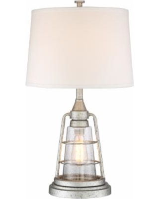 Great Deal On Fisher Galvanized Metal 28 3 4 High Nightlight Table Lamp