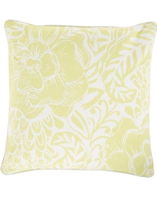 """Ophelia & Co. Ryele Cotton Throw Pillow OPCO4334 Size: 22"""" H x 22"""" W x 4"""" D Color: Butter Fill Material: Down"""