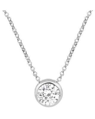 Handmade Sparkling Crystal Set on Sterling Silver Pendant Necklace (Thailand) (Round)