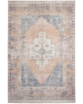 Find Savings On Blush And Blue Persian Style Chelsea Area Rug 5 X 8 By World Market