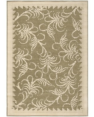 Can T Miss Deals On Martha Stewart Fountain Swirl Floral Hand Tufted Green Ivory Area Rug Martha Stewart Rugs Rug Size Rectangle 5 3 X 7 6