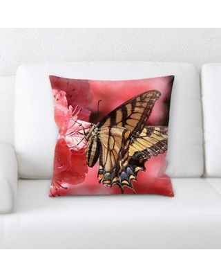 East Urban Home Butterfly Throw Pillow W000209746