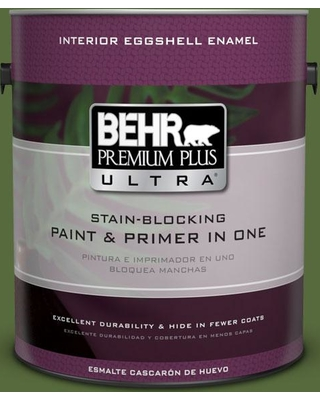 BEHR Premium Plus Ultra 1 gal. #410D-7 Mountain Forest Eggshell Enamel Interior Paint and Primer in One