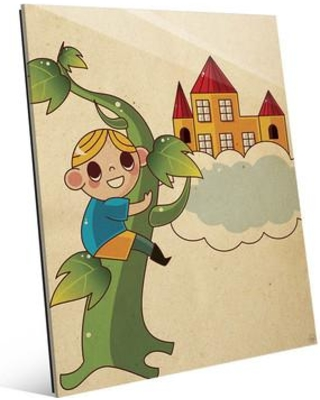 """Click Wall Art Jack and the Bean Stalk Graphic Art on Plaque FTL0000109GLS Size: 24"""" H x 20"""" W x 1"""" D"""