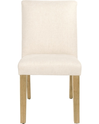 Parsons Dining Chair Linen Talc with Natural Legs - Threshold