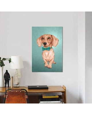 "East Urban Home 'The Wiener Dog' Graphic Art Print on Canvas EAUB3083 Size: 40"" H x 26"" W x 0.75"" D"