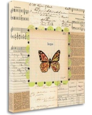 "Tangletown Fine Art 'Hope Butterfly' Graphic Art Print on Wrapped Canvas WA611973-2020c Size: 24"" H x 24"" W"