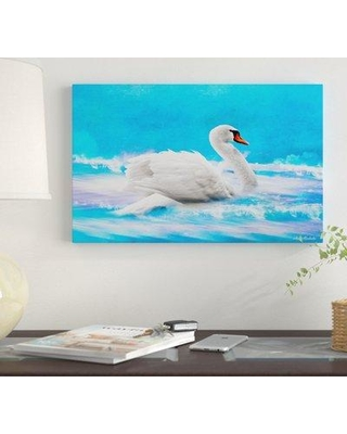 """Winston Porter 'Swan 8A' Oil Painting Print on Wrapped Canvas WNST7130 Size: 12"""" H x 19"""" W"""