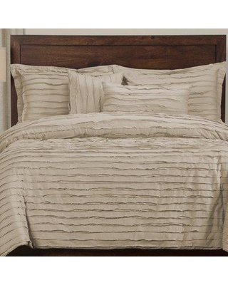 The Twillery Co. Ertvelde 6 Piece Duvet Cover Set CHMB2100 Color: Almond Size: King