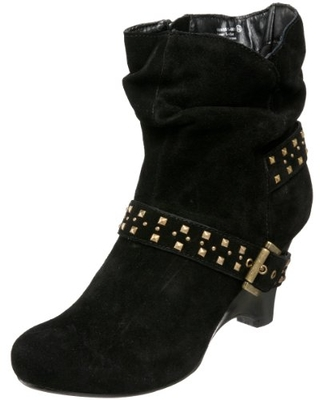 Naughty Monkey Women's Muse Ankle Boot,Black,8.5 M US